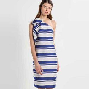 Banana Republic One-Shoulder Striped Dress